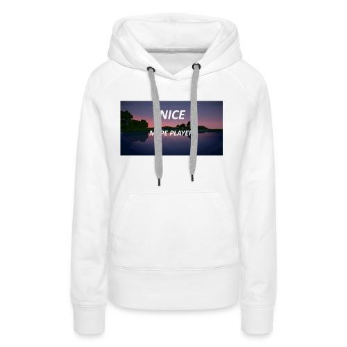 Sonnenuntergang in Minecraft Shader - Frauen Premium Hoodie