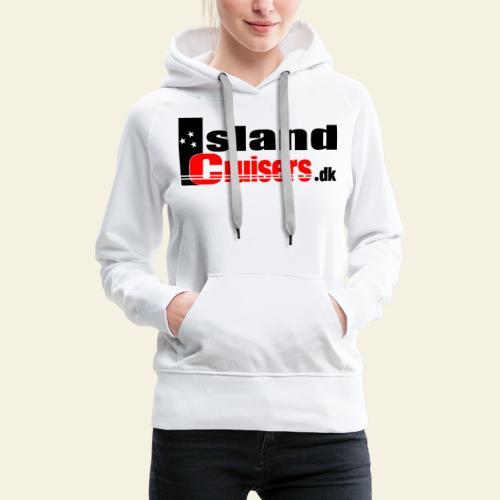 Island cruisers black - Dame Premium hættetrøje
