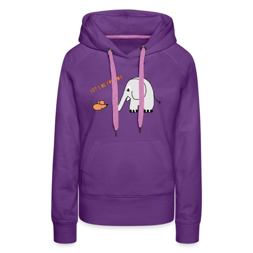 Elephant and mouse, friends - Women's Premium Hoodie
