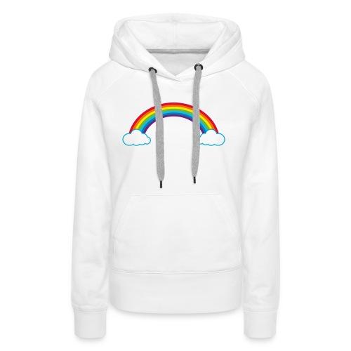 Regenbogen Sonne Herz Rainbow Cloud Heart - Women's Premium Hoodie