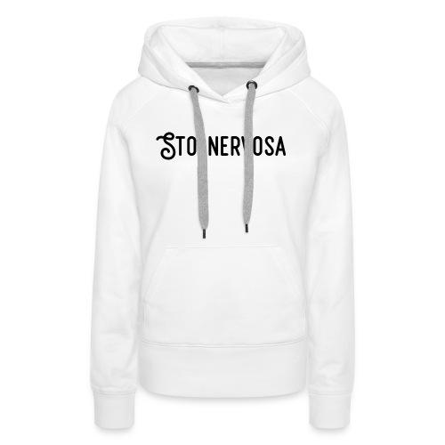 Sto Nervosa - Felpa con cappuccio premium da donna
