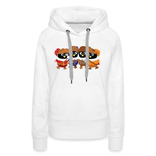 Pingouins mousquetaires - Sweat-shirt à capuche Premium pour femmes