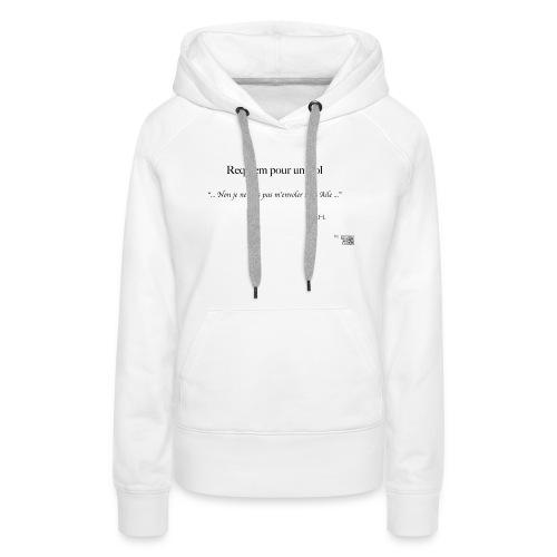 REQUIEM - Sweat-shirt à capuche Premium pour femmes