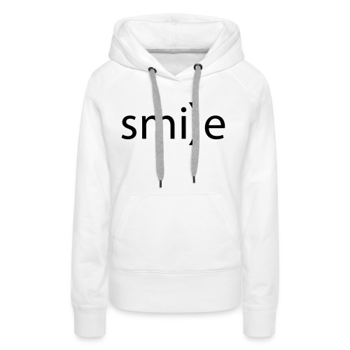 smile Emoticon lächeln lachen Optimist positiv yes - Women's Premium Hoodie