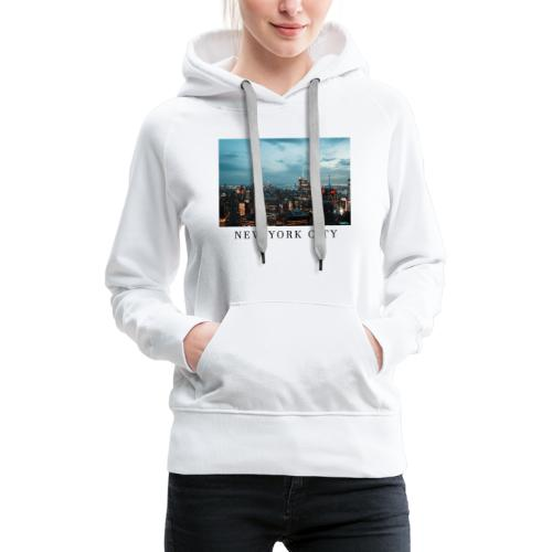 NEW YORK CITY, new york, new york photo, big city - Women's Premium Hoodie