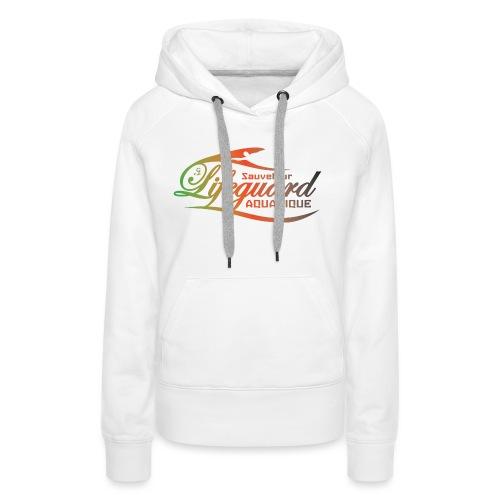 lifeguard multicolor - Sweat-shirt à capuche Premium pour femmes