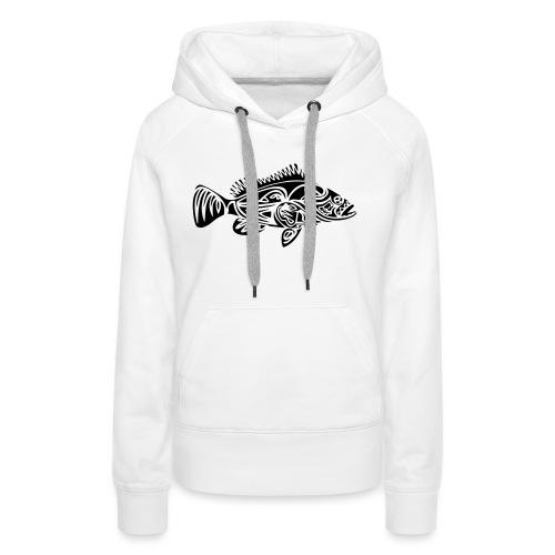 Tribal grouper - Sweat-shirt à capuche Premium pour femmes