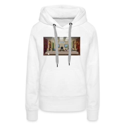 cene retro - Sweat-shirt à capuche Premium pour femmes