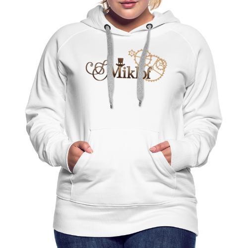 miklof logo gold wood gradient 3000px - Women's Premium Hoodie
