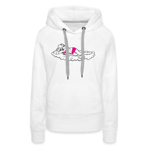 F nuage - Sweat-shirt à capuche Premium pour femmes