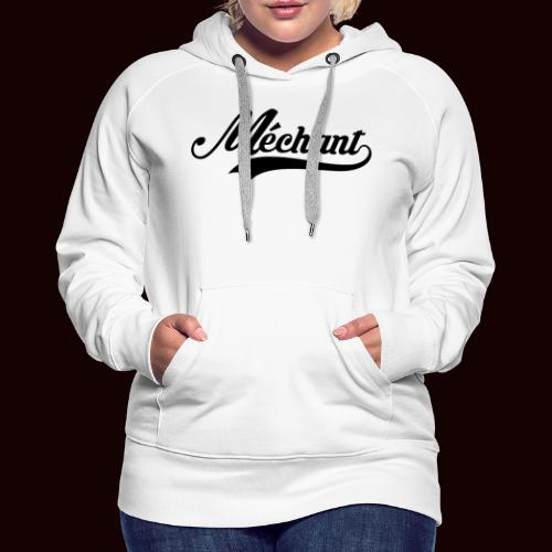 mechant_logo - Sweat-shirt à capuche Premium pour femmes