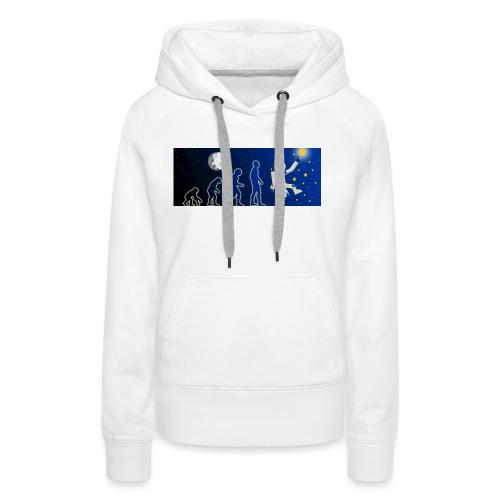 Europäischer Astronaut Evolution - Frauen Premium Hoodie