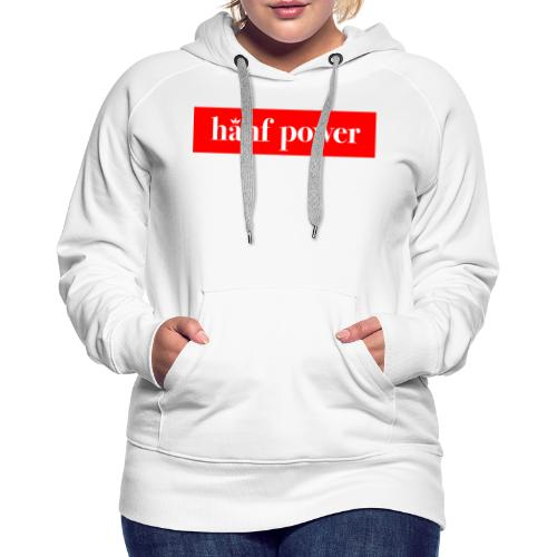 Hanf Power RED - Frauen Premium Hoodie