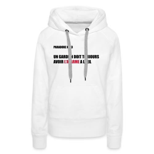 PARADOXE gardien - Sweat-shirt à capuche Premium pour femmes
