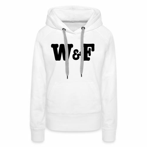 World&Fly Original - Sweat-shirt à capuche Premium pour femmes
