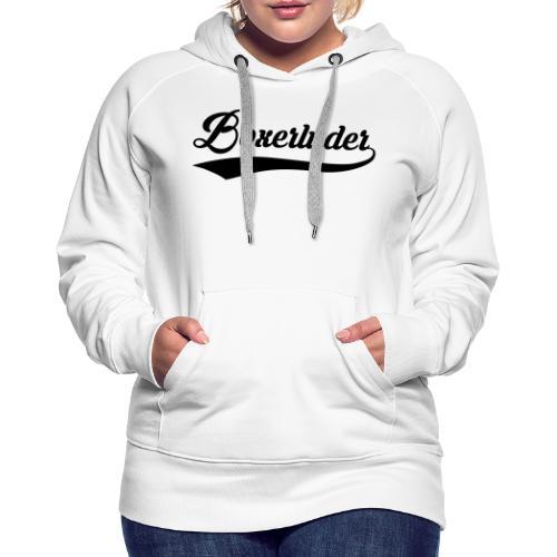 Motorrad Fahrer Shirt Boxerluder - Frauen Premium Hoodie