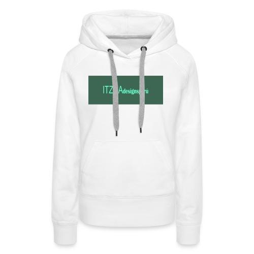 logo face jpg - Sudadera con capucha premium para mujer