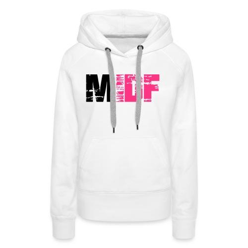 Logo MIDF 2 - Sweat-shirt à capuche Premium pour femmes