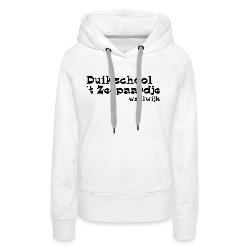 tekst onder elkaar - Vrouwen Premium hoodie