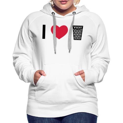 I love Äppler - Frauen Premium Hoodie
