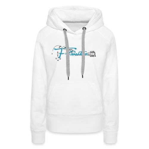 F-Guitar_fond_clair_T-Shirt - Sweat-shirt à capuche Premium pour femmes