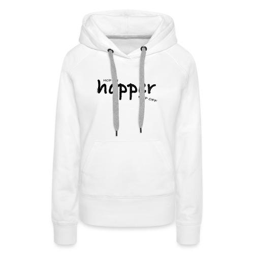 MuchoHop Hop On/Off (black) - Sudadera con capucha premium para mujer