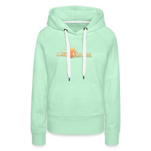 logo oa v3 v1 fond clair - Sweat-shirt à capuche Premium pour femmes