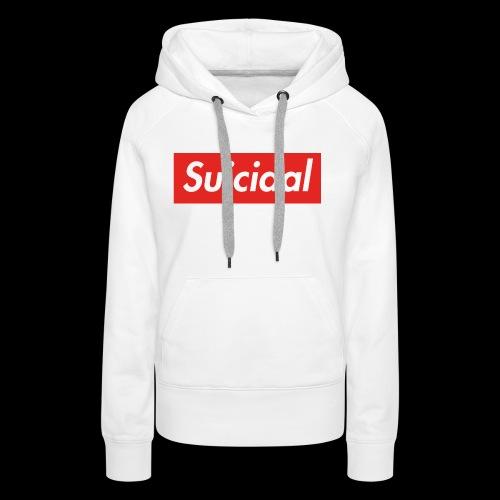 Suicidal Logo.png - Sudadera con capucha premium para mujer