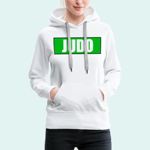 Judo Gruen 3. Kyu - Frauen Premium Hoodie