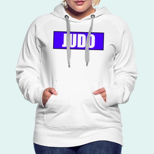 Judo Blau 2. Kyu - Frauen Premium Hoodie