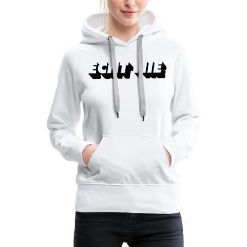 echt nie - Sweat-shirt à capuche Premium pour femmes