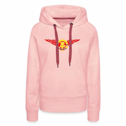GDR flames crest 3c - Women's Premium Hoodie