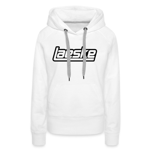 Laeske Black Logo - Dame Premium hættetrøje