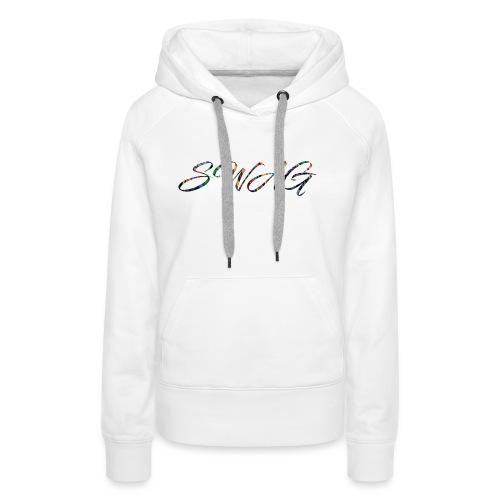 Texte 'Swag' - Sweat-shirt à capuche Premium pour femmes