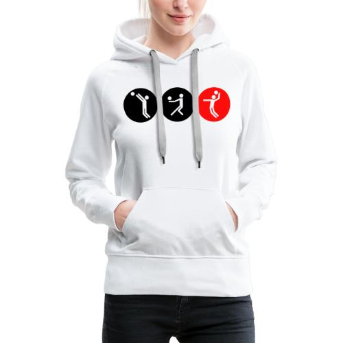 Volleyball symbole bicolor - Frauen Premium Hoodie