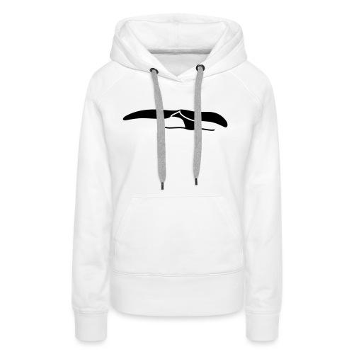 Walflosse-black - Frauen Premium Hoodie