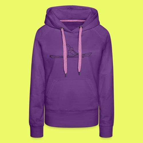Seekajak Silhouette - Frauen Premium Hoodie