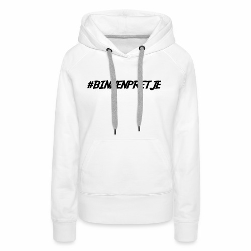 binnenpretje thermoskan - Vrouwen Premium hoodie