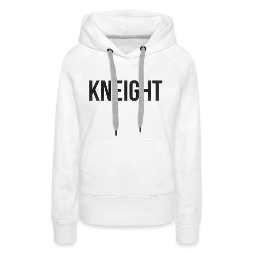 Brand KNEIGHT Logo - Dame Premium hættetrøje
