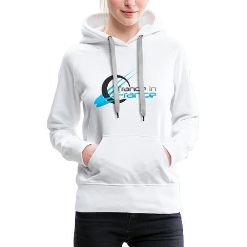 Trance In France White - Large Logo - Sweat-shirt à capuche Premium pour femmes