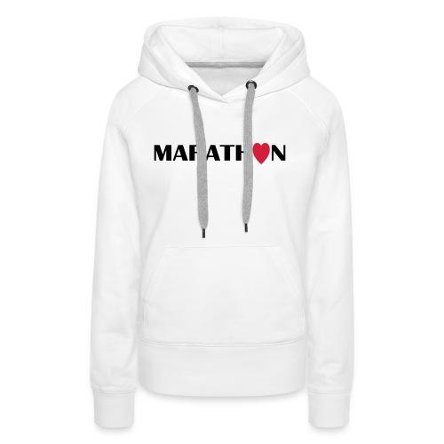 I love Marathon - Frauen Premium Hoodie