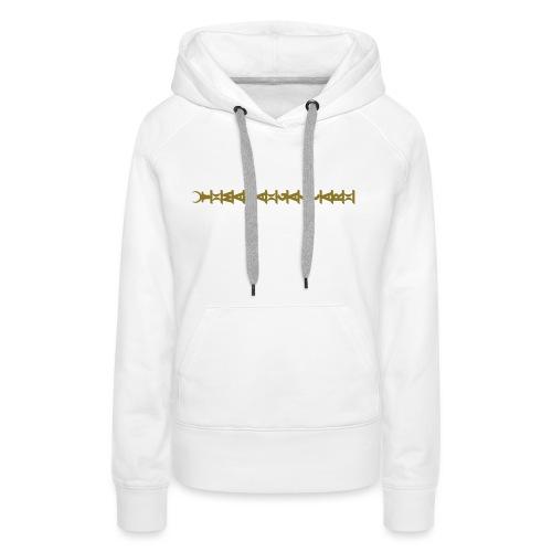 aloalo_horizontal - Sweat-shirt à capuche Premium pour femmes