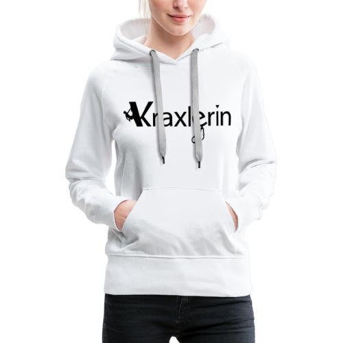 Kraxlerin - Frauen Premium Hoodie