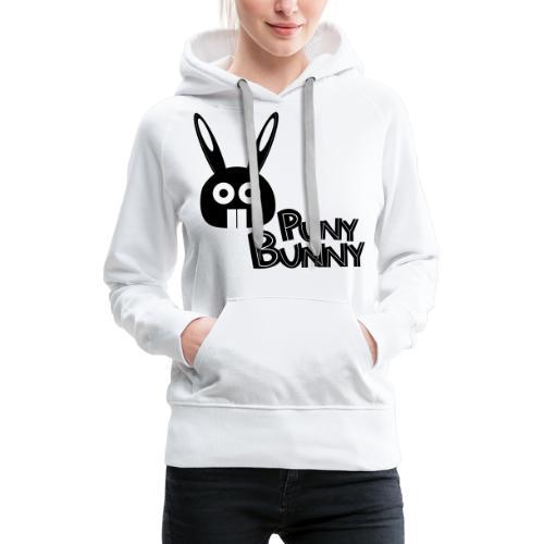 Puny Bunny text - Naisten premium-huppari