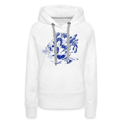 Downtown Upside Down - Sweat-shirt à capuche Premium pour femmes