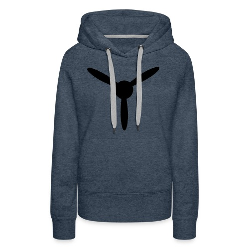 3 blade propeller 1 colour - Women's Premium Hoodie