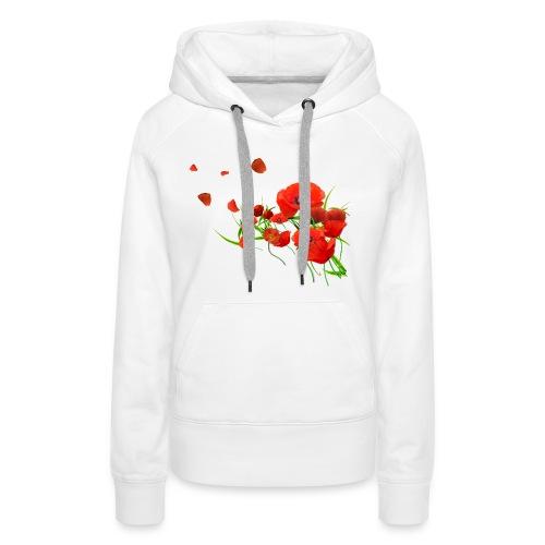 Coquelicots - Sweat-shirt à capuche Premium pour femmes