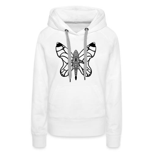 shark butterfly - Sweat-shirt à capuche Premium pour femmes