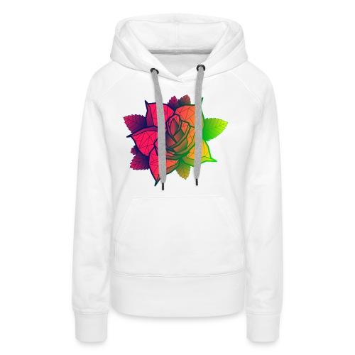rose tricolore - Sweat-shirt à capuche Premium pour femmes