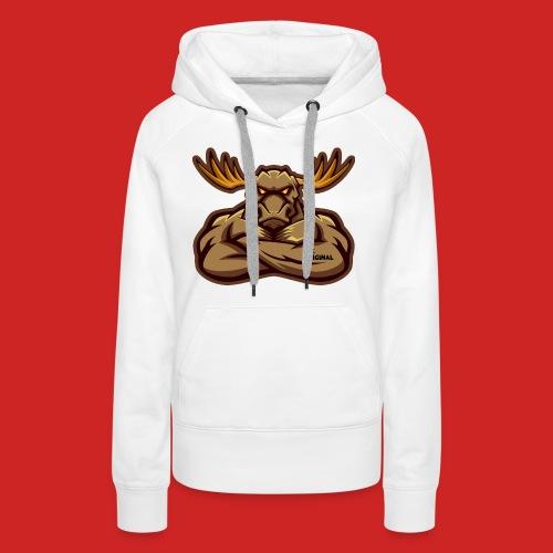 Ace Original Moose Mascot - Women's Premium Hoodie